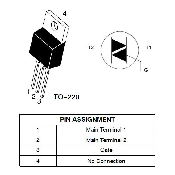 triac-q4015l5 para proyecto
