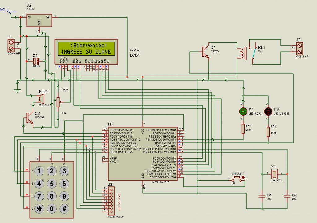 cerradura electrónica mediante Keypad y atmega328p