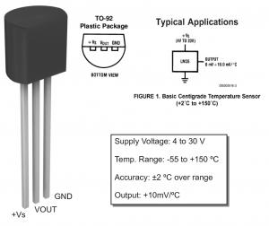 Control de temperatura con LM3914