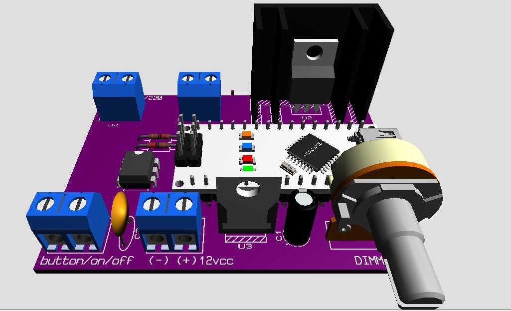 Dimmer controlador de luz de potencia