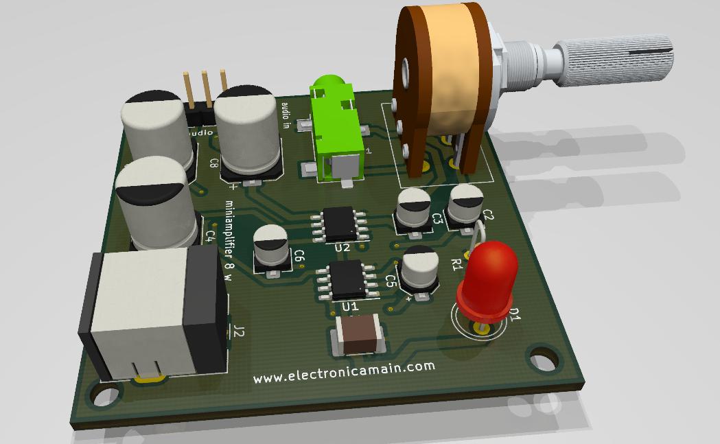 Mini amplificador con ic Lm386