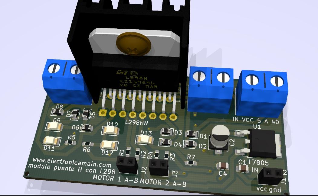 Modulo Puente H con integrado L293